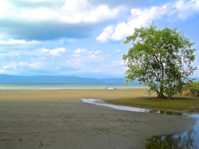 Strand bei Ebbe in der Nähe von Puerto Jimenez.