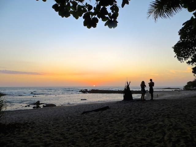 Die Sonnenuntergänge in Santa Teresa sind einfach wundervoll.