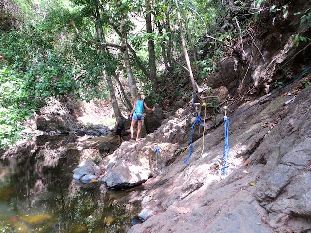 Auf dem Weg zum Wasserfall in Montezuma.