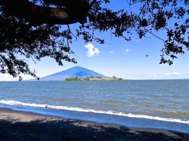 Sicht auf den Vulkan Maderas.
