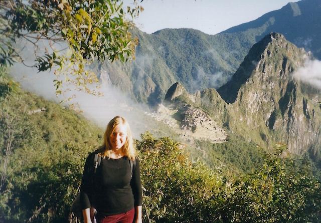 Auf dem Machu Picchu in Peru.