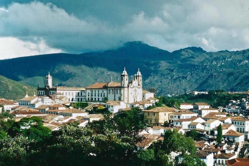 Aussicht auf Ouro Preto im Landesinnern Brasiliens.