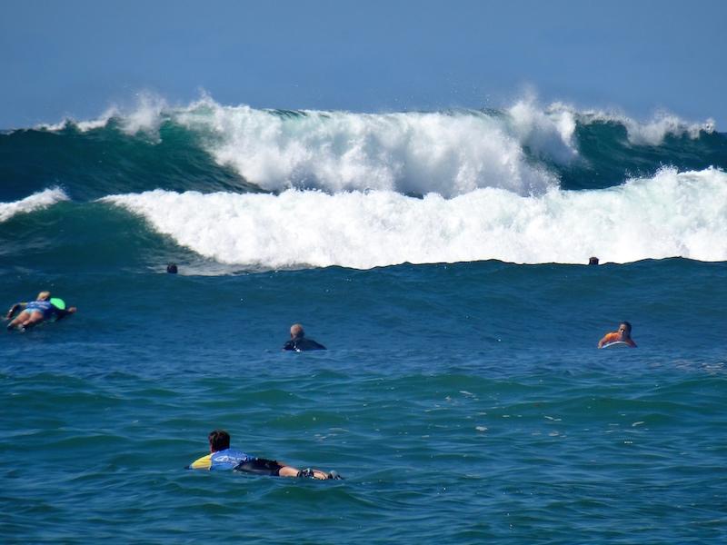...die Wellen studieren...
