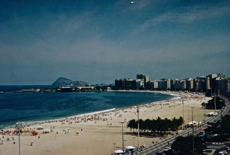 Die Copacabana in Rio de Janeiro.