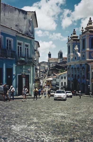 Die wunderschöne Altstadt von Salvador da Bahia in Brasilien.