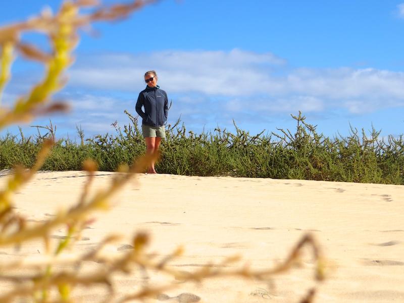 In den Dünen von Corralejo.