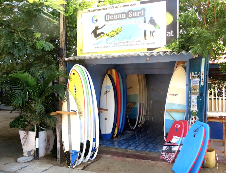 Surfshop in Sri Lanka