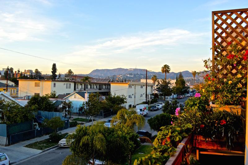 Tolle Airbnb Unterkunft in L.A. mit Sicht auf das Hollywood Sign.