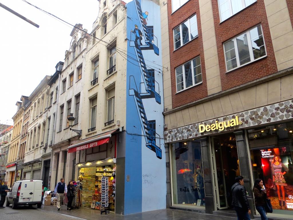Tim & Struppi in Brüssel.