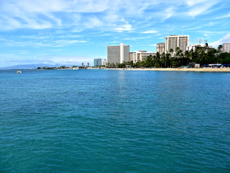 Am Waikikibeach in Honolulu.