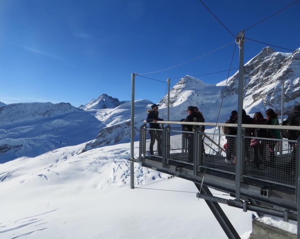 Besucher auf dem Jungfraujoch.