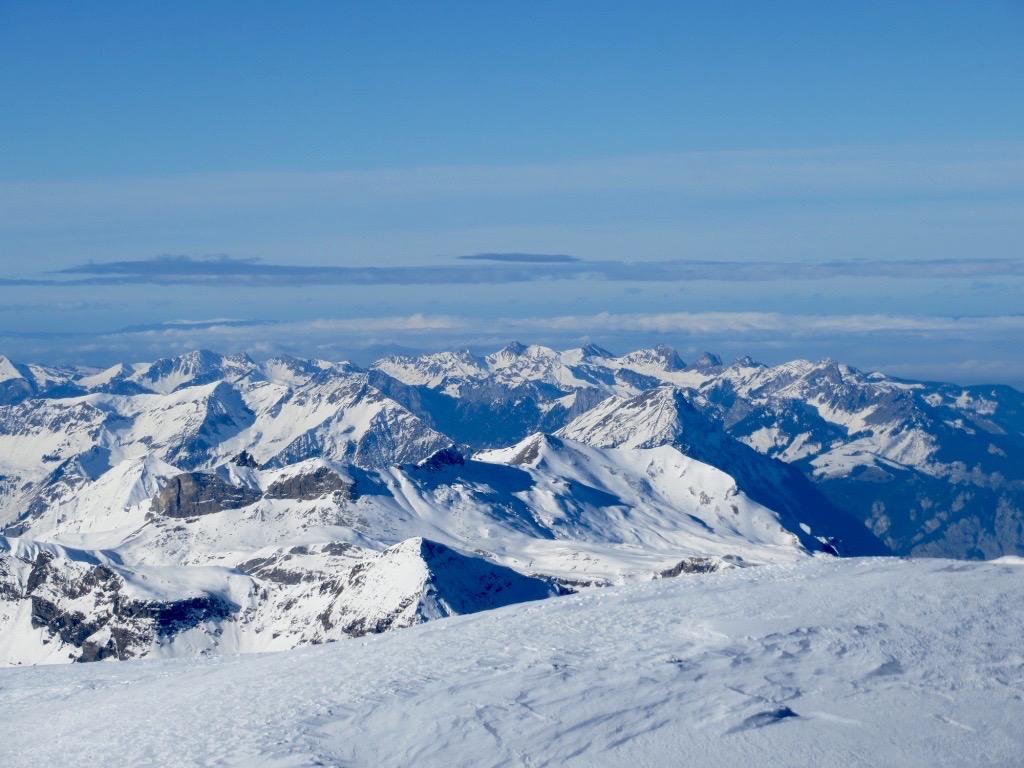 Wundervoller Blick über die Alpen.