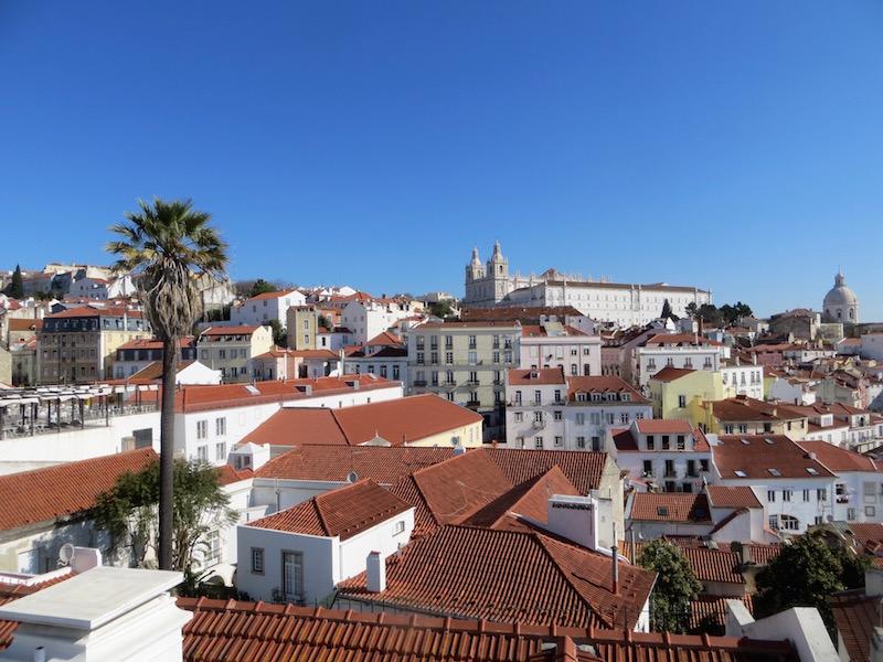 Überall in Lissabon gibt es tolle Ausblicke zu geniessen.