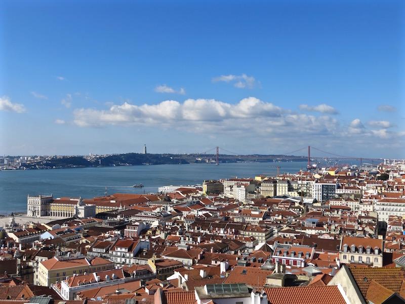 Vom Castelo de São Jorge sieht man über ganz Lissabon.