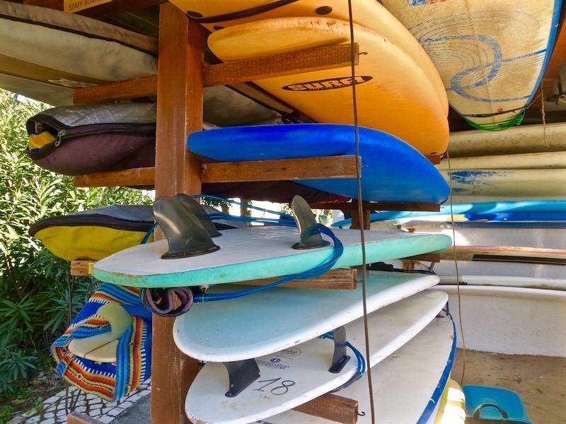 Angekommen im Surfcamp an der Algarve in Portugal.