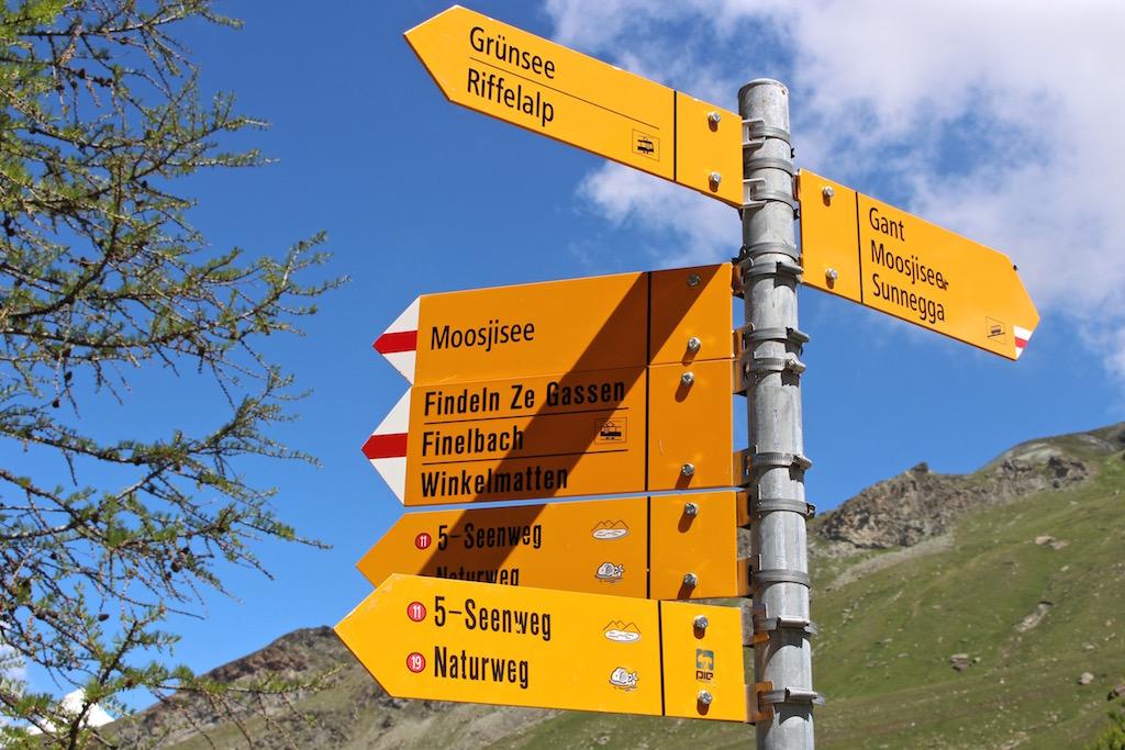 Unterwegs auf dem 5-Seenweg in Zermatt.