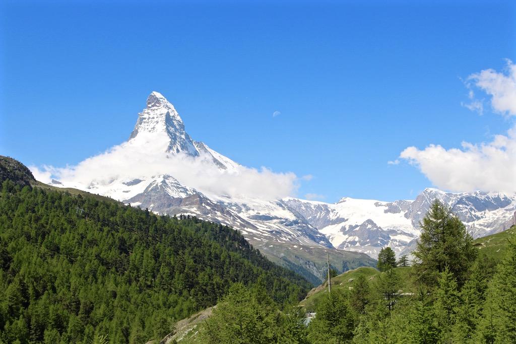 Auf der 5-Seenwanderung gibts immer Blick auf das Matterhorn!