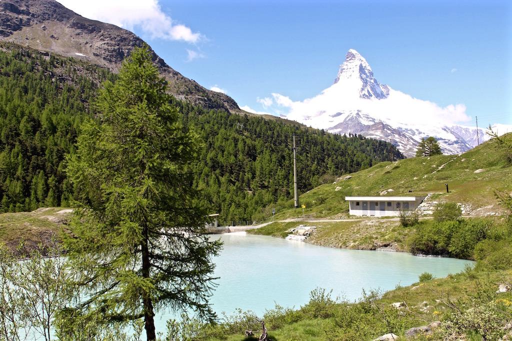 Der Moosjisee in Zermatt. Natürlich mit Matterhorn!
