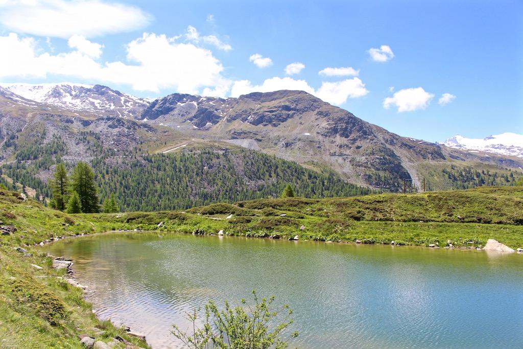 Abschluss des 5-Seenwegs am Leisee in Zermatt.
