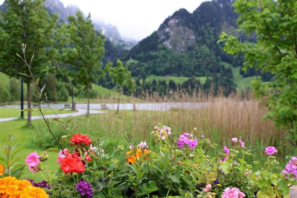 Idyllischer Schwarzsee in der Region Fribourg.