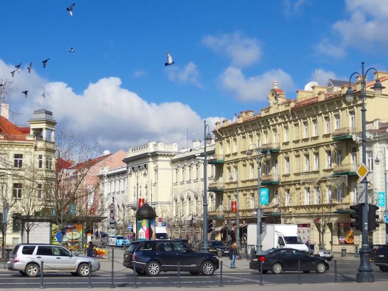 Die Innenstadt von Vilnius.