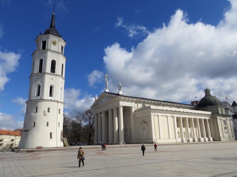 Der Stadtplatz in Vilnius.