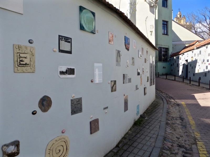 Die künstlerische Altstadt in Vilnius.