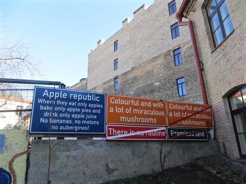 Uzupis, das Künstlerviertel in Vilnius.